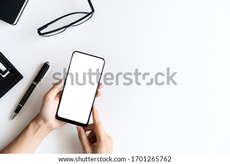 business documents on office table with smart phone and digital  Stock photo © Freedomz