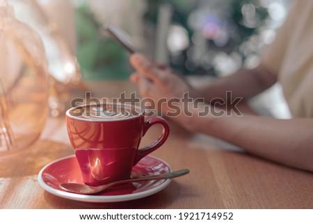 Közelkép kávéscsésze pihen idő homály kávéház Stock fotó © Freedomz
