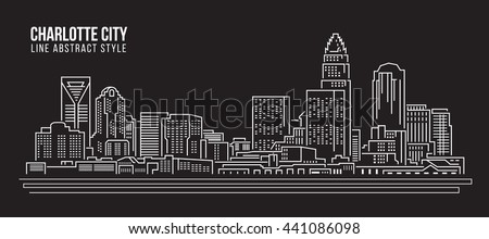 Silhouette of Charlotte skyline - Charlotte panorama, city downt Stock photo © Winner