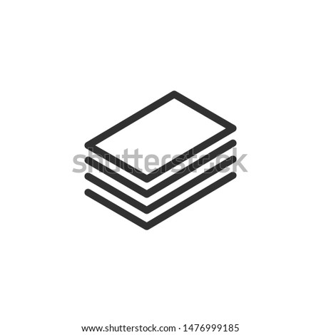 Layout Icon. Vector Layers Icon. 4 levels. Canvas Icon in Outline Style. Editable stroke. Vector ill Stock photo © kyryloff