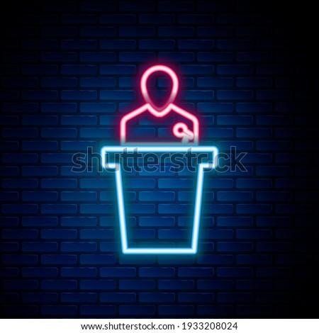Biznesmen podium konferencji jasne digital composite Zdjęcia stock © wavebreak_media