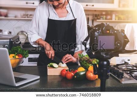 調理 女性 手 タマネギ ストックフォト © Freedomz