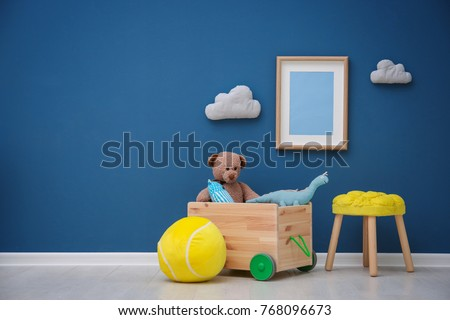baby boy playing with balls kid in play room toddler kid with stock photo © dashapetrenko