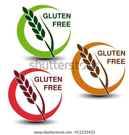 Sin gluten icono etiqueta productos oído trigo Foto stock © Winner