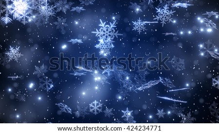 Christmas snowflakes background with falling and swirling snow Stock photo © SwillSkill
