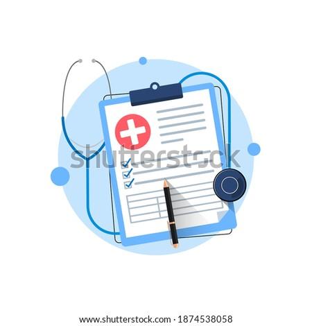 insurance service metaphor flat design style vector illustration stock photo © decorwithme