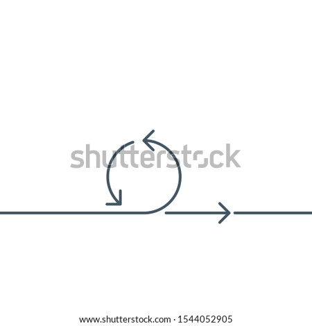 one line circle arrows logo design. Refresh or sync concept. Editable stroke. Stock Vector illustrat Stock photo © kyryloff