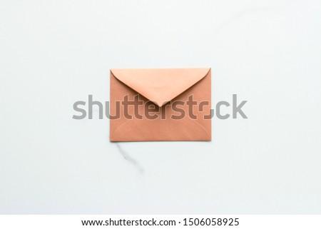 papel · em · branco · mármore · férias · e-mail · serviço · postal · boletim · informativo - foto stock © Anneleven