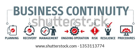 Business continuity and disaster recovery concept banner header Stock photo © RAStudio