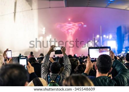 Personnes Rock concert Photos Photo stock © galitskaya