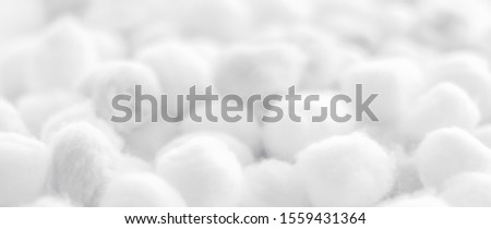 Organic cotton balls background for morning routine, spa cosmeti Stock photo © Anneleven