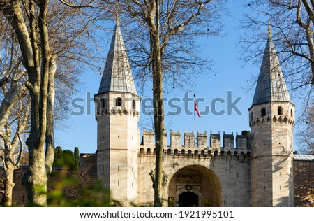 Gate of Salutation, entrance to the Second courtyard of Topkapı Stock photo © boggy