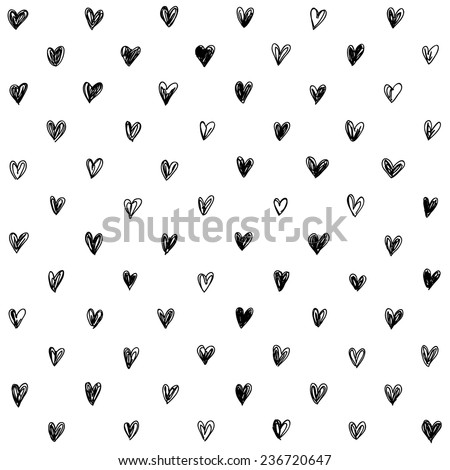 Hand drawn seamless love pattern vector illustration with chalk colored filling. Vector repeating te Stock photo © ukasz_hampel