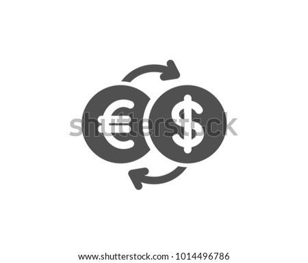 Exchange icon, dollar and euro currency transfer. banking business concept. Stock Vector illustratio Stock photo © kyryloff
