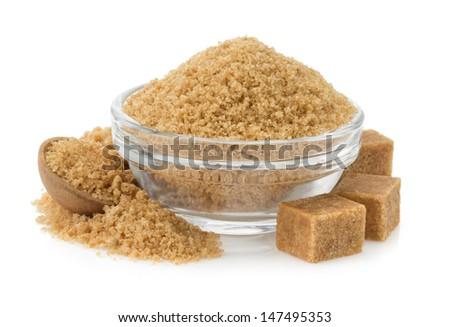 üveg tál tányér természetes barnacukor kockák Stock fotó © DenisMArt
