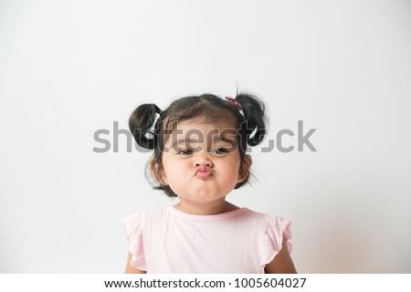 Nina cara retrato funny aislado Foto stock © filipw