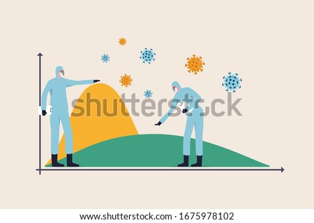 Social Distancing Coronavirus Covid-19 Pandemic Graph Concept Stock photo © ivelin