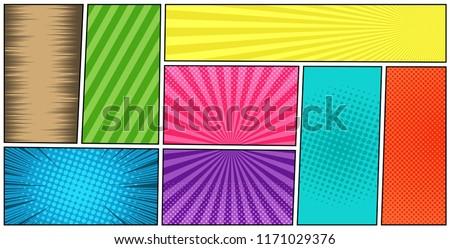 Couleur lignes style manga Photo stock © designer_things