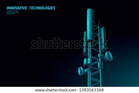 Digitális mobil telekommunikáció torony hálózat kapcsolat Stock fotó © SArts