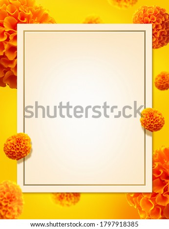 beautiful ganesh chaturthi festival card design in yellow color Stock photo © SArts