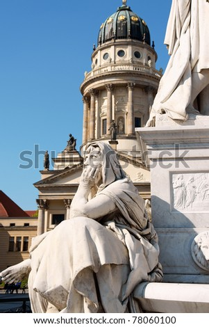 Detail of the French Dome and the monument to german poet Friedr Stock photo © aladin66