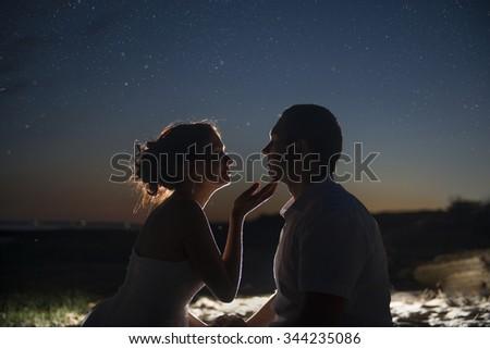 Fiatal friss házasok pár ül zárt egyéb Stock fotó © Massonforstock