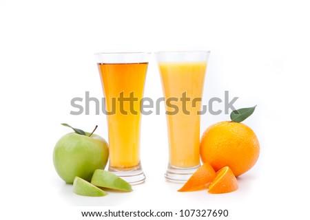 vert · pomme · verre · jus · de · pomme · blanche · jus - photo stock © Traven