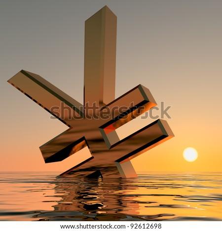 libra · oceano · depressão · recessão - foto stock © stuartmiles