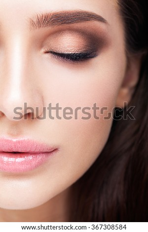 Glamour portrait of beautiful woman model with eye shadows makeu Stock photo © Victoria_Andreas