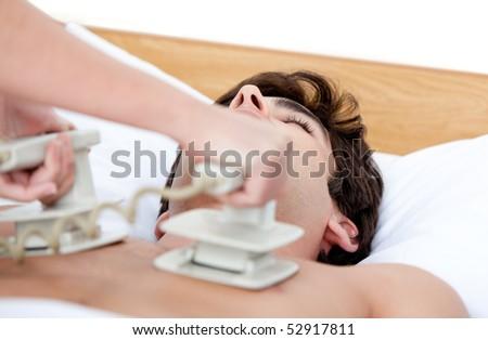 orvos · defibrillátor · beteg · kórház · munka · orvosi - stock fotó © wavebreak_media