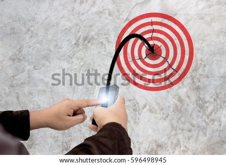 Business executive implementing the product through telecalling Stock photo © stockyimages
