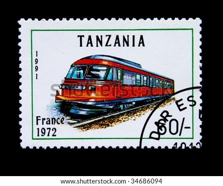 TANZANIA - CIRCA 1991: A stamp printed in Tanzania shows Plateosaurus, circa 1991 stock photo © Zhukow