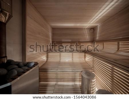 sauna · interior · caliente · velas · spa · limpio - foto stock © alenmax