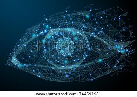 Цифровая иллюстрация глаза сканирование безопасного цифровой личности Сток-фото © 4designersart