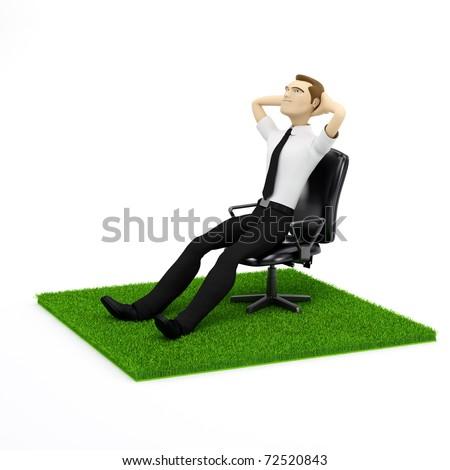 человека · трава · белый · изолированный · 3D · изображение - Сток-фото © kirill_m