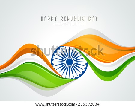 India flag republic day beautiful wave tricolor stylish vector d Stock photo © bharat