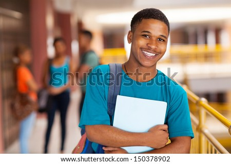 high school students young handsome male student looking throug stock photo © hasloo