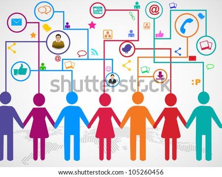 Sosyal medya insanlar iletişim dünya haritası eps 10 Stok fotoğraf © ratch0013