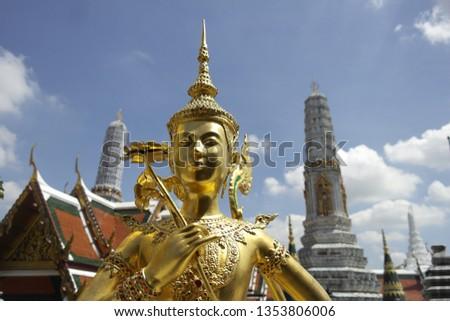 mitología · figura · palacio · viendo · templo · arte - foto stock © meinzahn