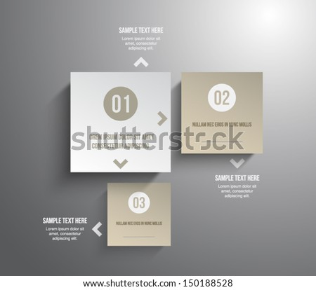 Abstract 3D Paper Infographics illustration design over white Stock photo © alexmillos