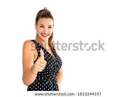 jovem · bastante · mulheres · isolado · preto - foto stock © alexandrenunes