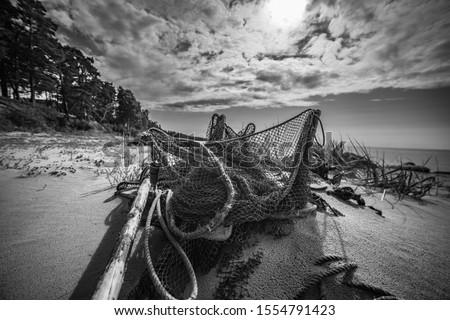 漁網 業界 釣り ギア ロープ ストックフォト © guffoto