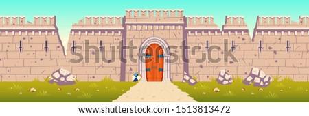 старые · Готский · двери · романтические · стиль · зеленый - Сток-фото © maxpro