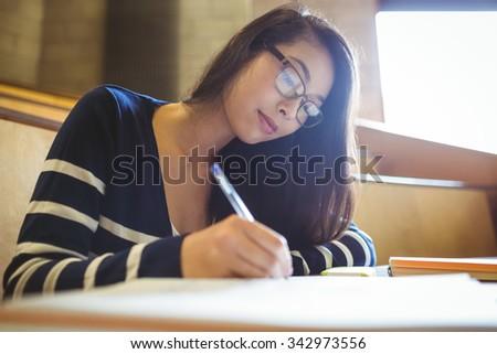 かなり · 小さな · 大学生 · 書く · 数学 · クラス - ストックフォト © lightpoet