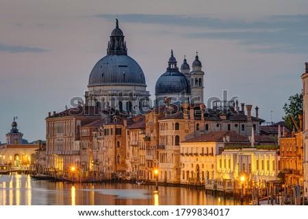 grand canal and basilica santa maria della salute venice italy stock photo © siavramova