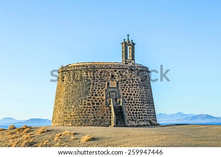 небольшой · замок · утес · Канарские · острова · Испания · природы - Сток-фото © meinzahn