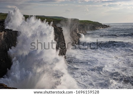 Waves and Cliffs  Stock photo © smuki
