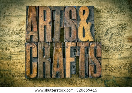 Antique letterpress wood type printing blocks - Arts and Crafts Stock photo © Zerbor