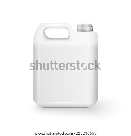 Plastic Jerrycan Oil, Cleanser, Detergent, Abstergent, Liquid Soap, Milk, Juice On White Background  Stock photo © netkov1