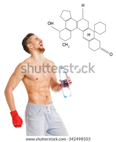 smilling athletic attractive man wearing boxing bandages with bo stock photo © vlad_star